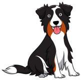 澳大利亚牧羊人动画片狗 库存例证