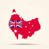 澳大利亚的地图澳大利亚澳大利亚红色En民用少尉的  免版税图库摄影