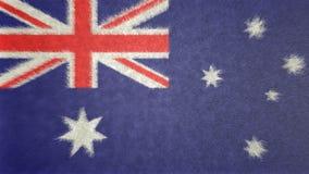 澳大利亚的旗子的原始的3D图象 免版税库存图片