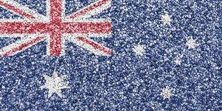澳大利亚的旗子罂粟种子的 免版税图库摄影
