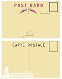 澳大利亚的葡萄酒明信片 向量例证