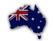 澳大利亚的织地不很细地图好的颜色的 免版税库存图片