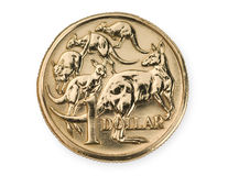 澳大利亚硬币美元一 免版税图库摄影