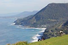 澳大利亚秃头海岸线小山 免版税库存照片