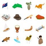澳大利亚等量3d象 免版税图库摄影