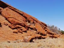 澳大利亚红色岩石的侵蚀 免版税库存照片