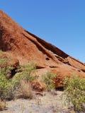 澳大利亚红色岩石的侵蚀 免版税库存图片