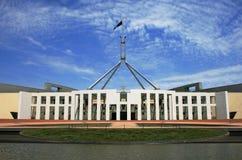 澳大利亚编译的堪培拉议会 免版税库存图片