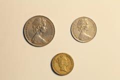 澳大利亚美元硬币  免版税库存图片