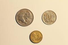 澳大利亚美元硬币  图库摄影