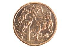 澳大利亚美元硬币 免版税库存照片