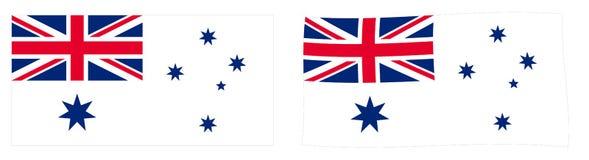 澳大利亚联邦海军旗子不同的澳大利亚人白色E 库存例证
