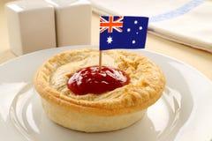 澳大利亚肉馅饼 免版税库存图片