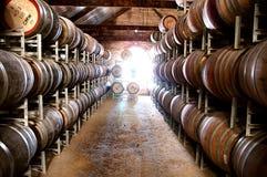 澳大利亚葡萄酒库 库存图片