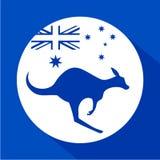 澳大利亚袋鼠象 向量例证