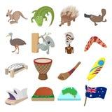 澳大利亚象动画片 免版税库存照片