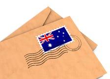 澳大利亚过帐 免版税库存图片