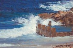 澳大利亚邦迪滩自然水池 图库摄影