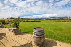 澳大利亚酿酒厂俯视 免版税库存图片