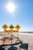 澳大利亚野生生物横穿符号 库存照片