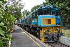 澳大利亚,昆士兰, Kuranda,盘旋火车 免版税库存照片