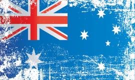 澳大利亚,澳大利亚联邦,起皱纹的肮脏的斑点的旗子 向量例证