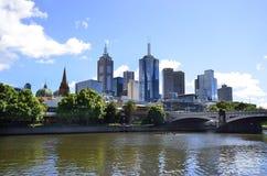 澳大利亚,维多利亚,墨尔本市 免版税图库摄影