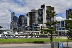 澳大利亚,维多利亚,墨尔本,港区 免版税库存图片