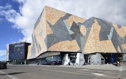 澳大利亚,维多利亚,墨尔本,联盟正方形 库存图片
