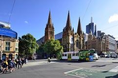 澳大利亚,维多利亚,墨尔本,街市 库存照片