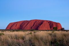 澳大利亚,艾瑞斯岩石, Uluru,国家公园,北方领土 免版税库存图片