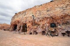澳大利亚, Coober Pedy,鳄鱼哈里独木舟 库存图片
