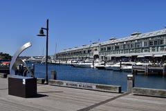 澳大利亚, NSW,悉尼, Wooloomooloo海湾 免版税库存照片