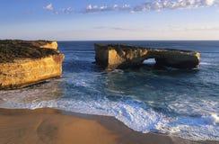 澳大利亚维多利亚大洋路伦敦桥梁 库存照片