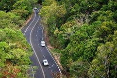 澳大利亚-小镇路的都市风景 库存图片