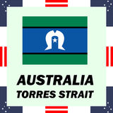 澳大利亚-托里斯海峡的政府元素 库存例证