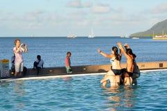 澳大利亚-游泳池的都市风景 图库摄影