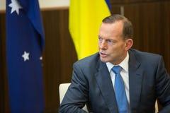 澳大利亚总理托尼・阿博特 库存图片