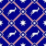 澳大利亚主题的无缝的样式 免版税库存图片