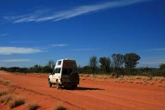 澳洲中心沙漠越野红色 免版税库存图片
