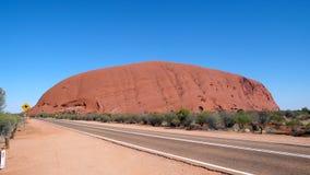 澳洲中心红色uluru 库存图片