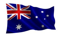 澳洲可用的标志玻璃样式向量 世界的一系列的`旗子 `国家-澳大利亚旗子 库存照片