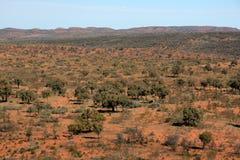 澳洲在内地中心红色 免版税库存图片