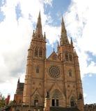 澳洲大教堂marys st悉尼 库存照片
