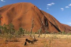 澳洲大红色岩石 库存图片