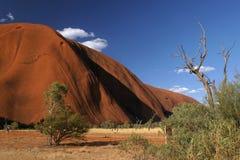 澳洲大红色岩石 免版税库存照片