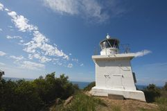 澳洲小山灯塔点来回塔斯马尼亚岛 图库摄影