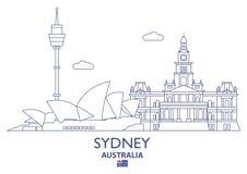 澳洲市地平线悉尼 库存例证