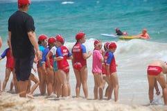 澳洲救生海浪 免版税库存图片