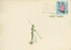 澳洲明信片葡萄酒 库存照片